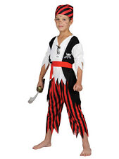 Child Boys Shipwreck Castaway Pirate Book Week Fancy Dress Costume Ages 3-10 Yrs