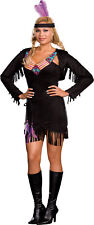 Makin' Reservations Suede Indian Adult Plus Womens Costume Theme Party Halloween