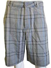 O'Neill Men's Casual Traverse Shorts Gray Plaid NWT