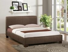 Happy Beds Brooklyn Contemporary Fabric Bed Home Furniture Bedroom Mattress New