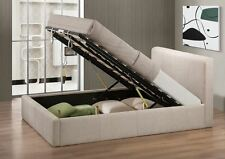 Happy Beds Brooklyn Ottoman Contemporary Fabric Bed Home Furniture Bedroom New