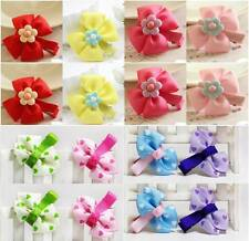 Value Pack 16pcs Girls Ribbon Grosgrain Hair Bow Clips Baby Hairpins Barrettes