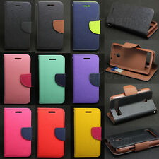 Deluxe Wallet Leather Skin Flip Folio + Tpu Skin Case Cover For Sony Xperia E1