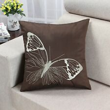 """Cushion Covers Pillows Shell Various Colors Vivid Butterfly Embroidery 18"""" X 18"""""""