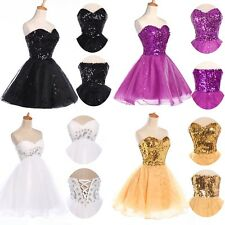 Charming Girl Party Formal Prom Banquet Shiny Ball Gown Dance Graduation Dress