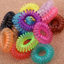 10PCS Colorful Fashion Fun Lovely Telephone Line Shaped Hair Ties Hair Bands