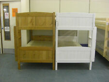 Classic Solid Antique Pine / White Bunk Beds - With Or Without Mattresses!