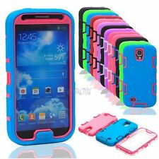 Dual Layer Hybrid Shockproof Silicone Hard Case Cover f Samsung Galaxy S4 I9500