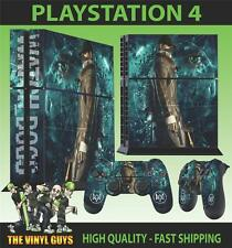 PS4 PLAYSTATION 4 CONSOLE STICKER WATCH DOGS DEDSEC 001 SKIN + 2 X PAD SKINS