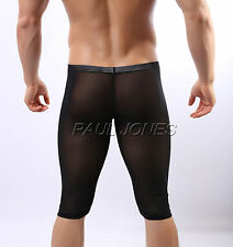 NEW Men Sexy Sheer See through Underwear Shorts Half Pants Underpants Size S M L