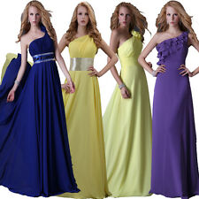 4 Styles Women Evening Formal Party Ball Gown Prom Wedding Bridesmaid Long Dress