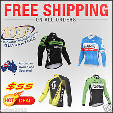 2016 Sports Team Cycling Bicycle  Long sleeves Jersey Clothing Padded Pants Kits
