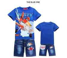 Boys DUSTY PLANE Summer Clothes Suit Set Outfit Top + Short Pants