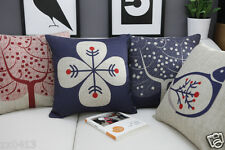 Vintage Country Japanese Style Home DECOR COTTON LINEN CUSHION COVER PILLOW CASE