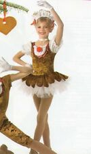 GINGER SNAP Ballet Tutu,Gloves,Headpiece Reindeer CHRISTMAS Dance Costume Child