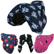 DESIGN PATTERN HORSE RIDING FLEECE PROTECTION SADDLE COVER ALL COLOURS SIZES