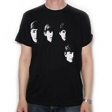 THE BEATLES T SHIRT - WITH THE BEATLES FACES 100% OFFICIAL JOHN LENNON MCCARTNEY