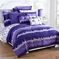 Karin Maki Purple Tie Dye Comforter Bedding Set & Sheet Set
