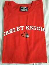 """Rutgers Scarlet Knights (Red) """"Team Name & Logo"""" NCAA T-Shirt"""