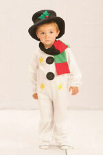 FANCY DRESS CHILDS KIDS CHRISTMAS FROSTY THE SNOWMAN COSTUME - FITS 2-9 YEARS