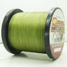 2000M/2187yds Army Green 6LB-100LB Super Strong Dyneema PE Braided Fishing Line