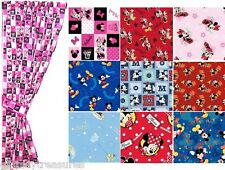 CUSTOM MADE -KIDS GIRLS BOYS WINDOW CURTAINS DRAPES-DISNEY MINNIE & MICKEY MOUSE