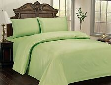 "LUXURIOUS CHECKERED SOFT 100% COTTON SATEEN SHEET SET, 15"" DEEP, 10 COLORS, GN"