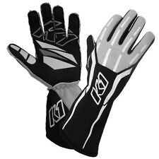 K1 - GT-1 SFI-5 Rated Nomex Pro Auto Racing Gloves -2 Layer Black Driving Gloves