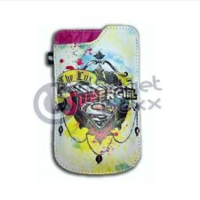 SUPERGIRL MOBILE PHONE UNIVERSAL POUCH BLACKBERRY CURVE APPLE IPHONE 3GS 4 4S