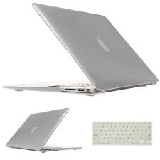 "Rubberized Hard Silver For MacBook Case Keyboard Cover Air11"" 13"" 15"" PRO Retina"