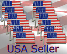 Wholesale U.S. Flag United States of America Clip On Car Window Flag Brand New!