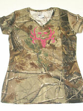 Bone Collector BC Camo W/ Pink Glitter Logo T-Shirt Med Large XL Camouflage J