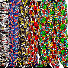 Men's Character Lounge Pants Pyjamas Pj Trousers Bottoms Marvel Comic Cartoon