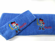 personalised towel - JAKE AND THE NEVERLAND PIRATES - SWIMMING TOWEL - BATH HAND
