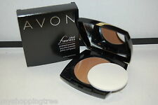Avon Ideal Flawless PRESSED Powder Foundation with Mirrored Compact & Applicator
