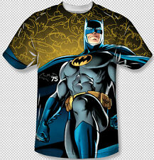 Batman Glow 75th Anniversary Symbol All Over Front Sublimation Youth T-shirt Top