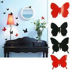 3D DIY Wall Sticker Butterfly Home Decor Room Decorations 12 pcs