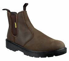 Amblers FS210C SB Safety Boots - Brown - Rubber/Phylon outsole