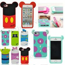 New Cute 3D Disney Cartoon Silicon RUbber Case Cover For Apple iPhone 4 4S 5 5S