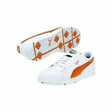 New Puma PG Clyde Mens Golf Shoes 185821-07 White / Vibrant Orange -Pick Size
