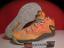 NIKE  LEBRON 11 XI MAX LOW ATOMIC MANGO ORANGE FLORIDIAN SZ 8 - 12  642849-800