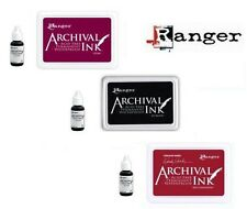 TIM Holtz ARCHIVAL Dye INK PADS & RE-INKERS Ranger Wendy Vecchi Purple Red Black