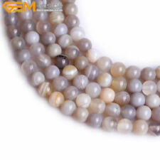 Gem-inside Natural Genuine Botswana Agate Onyx Gemstone Beads Strand 15""