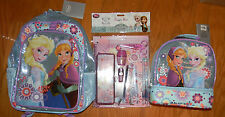 NWT Disney STORE FROZEN Elsa & Anna Backpack Lunch Tote School Supplies SOLD OUT