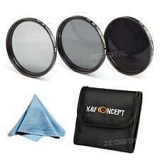 3 Tablets ND2 ND4 ND8 Neutral Density ND Lens Filter Kit For Canon Nikon + Cloth
