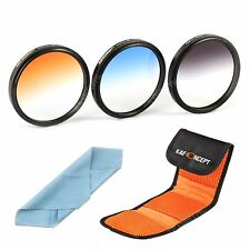 37 49 52 58 67 77 mm Graduated Color Lens Filter Kit ND For Nikon Canon Sigma
