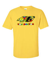 Valentino Rossi The Doctor 46 Short Sleeve Yellow T-Shirt Gildan 100% Cotton