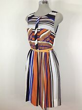 Jessica Simpson NWT Multi Color Striped  Belted Dress, perfect for all events