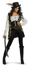 Deluxe Womens Angelica Caribbean Pirate Costume