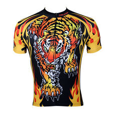 New Mens Cycling Jersey Rider Wear Bike Bicycle Shirt Roaring Tiger Wild Animal